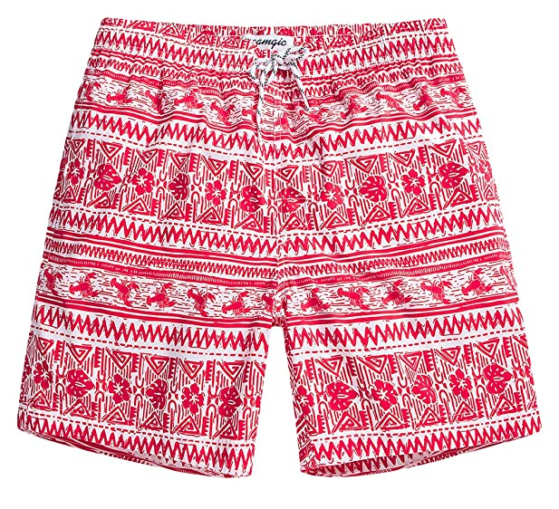 MaaMgic Mens Quick Dry Lobster Swim Trunks With Mesh Lining Swimwear  Bathing Suits