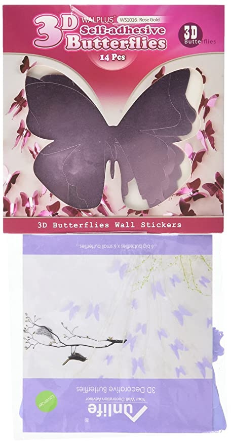 Amazon Com Mirror Lavender And Pink 3d Butterflies Home Interior