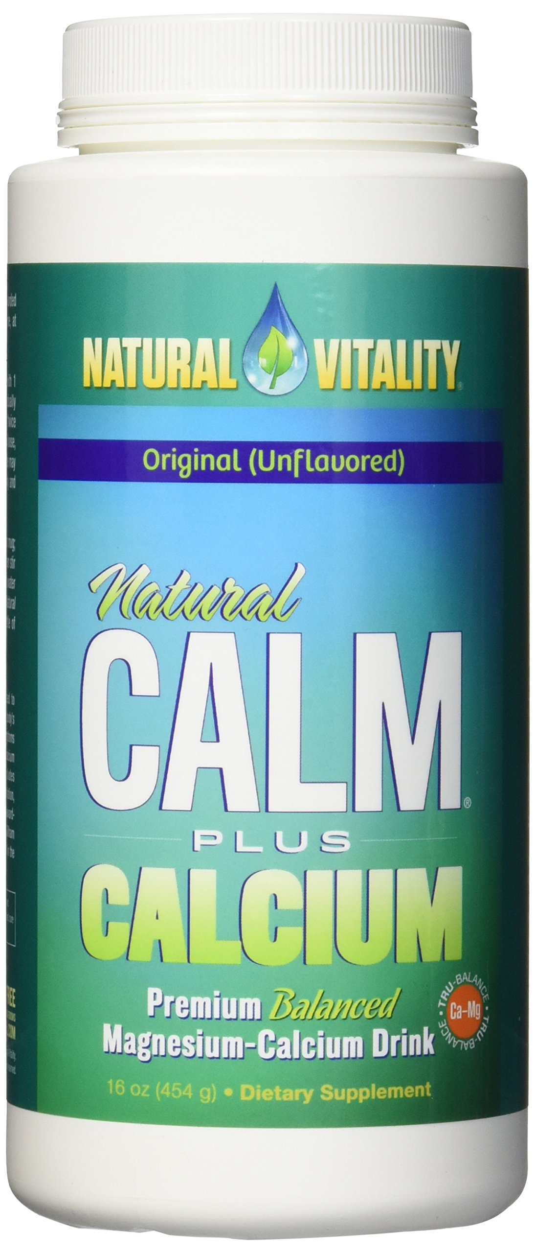 Natural Vitality Natural Calm Plus Drink - Calcium Diet Supplement, 16 Oz. Anti Stress Drink, Organic Drink. Stress Relief Drink