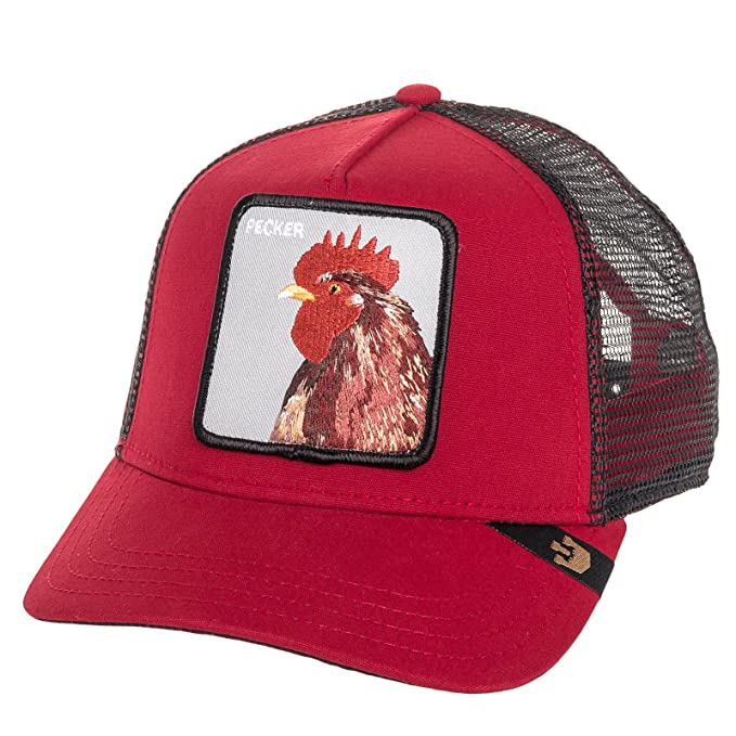 Amazon.com: Goorin Bros Mens Pecker Rooster Patch Trucker Cap Hat (Red): Clothing