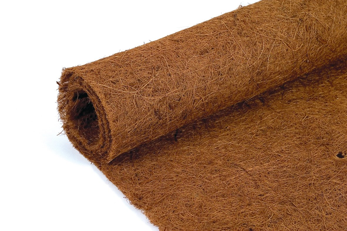 6 metres long x 75cm wide Co-co fibre - Coconut Coir liner roll - Coco Hanging Basket Wall Trough Liner Ruddings Wood