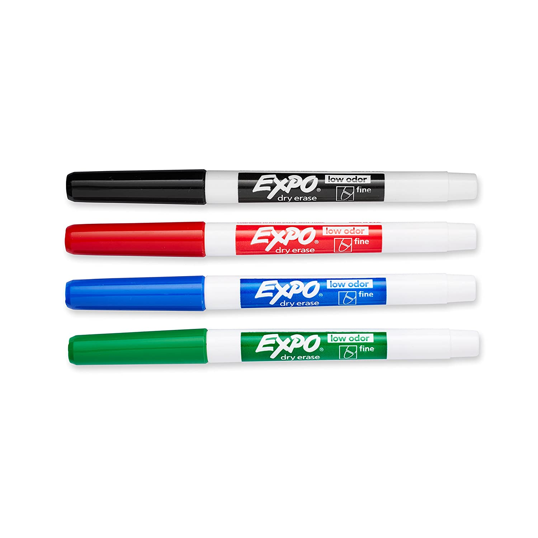 Bic Velleda 1701 Bullet Tip Assorted Whiteboard Marker (Pack of 4)  1199001704