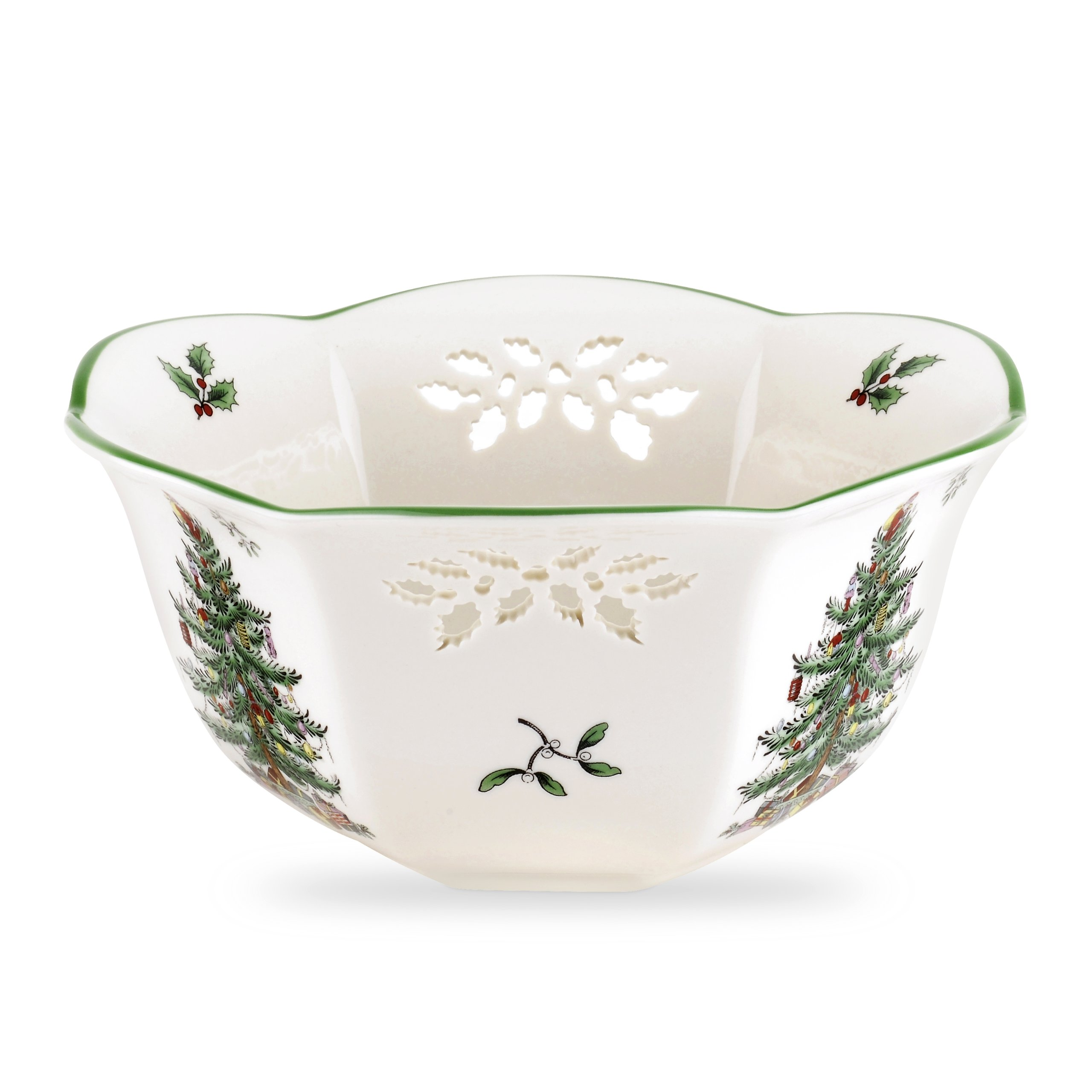 Spode Christmas Tree Pierced Nut Bowl
