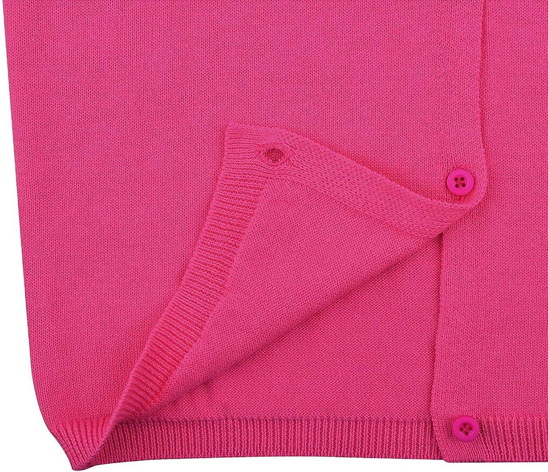 GSVIBK Baby Girls Cotton Cardigans Long Sleeve Kids Button Sweater Girls Crew Neck Cardigan Sweaters