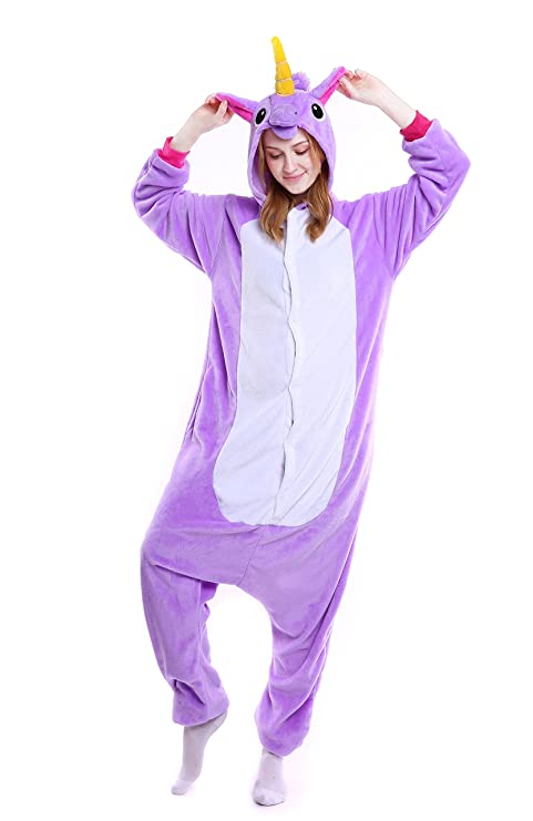 3d1b2badc6 Animale Pigiama - Feelme Unicorno Kigurumi Pigiama Adulto Anime Cosplay  Halloween Costume Tuta Animali Unisex