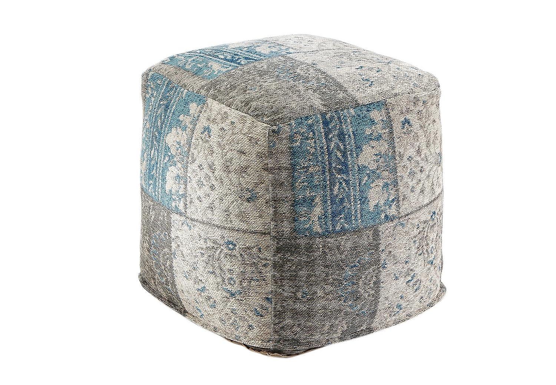 Kobolo Orientalischer Sitzpouf Multicolor indischem Webstoff 45x45x45 cm