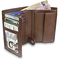 TRAVANDO ® Portefeuille Homme Rome - 10 Rangements Cartes - Blocage RFID - Porte-Monnaie Classique - Format Portrait - Cadeau Parfait Hommes - Coffret Cadeau - Designed in Germany