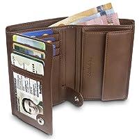 """TRAVANDO Portefeuille Homme""""ROME"""" - Porte-Monnaie Classique - Format Portrait - 10 Rangements pour Cartes - Blocage RFID - Cadeau parfait pour Hommes - Coffret Cadeau - Designed in Germany"""