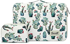Canvaslife 15 inch Cacti 360° Cushion Protective Waterproof Laptop Case Bag Sleeve with Handle for 15 inch-15.6 inch Laptop