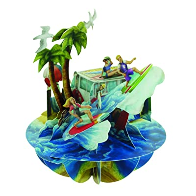 Santoro Pirouettes Beach and Surfing 3D Pop Up Card: Arts, Crafts & Sewing