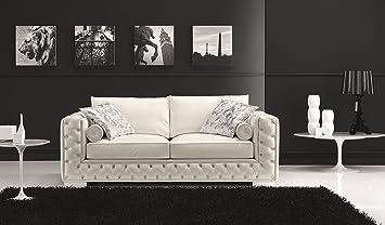 Enjoyable Amazon Com J And M Furniture 18343 S Vanity 530 White Sofa Creativecarmelina Interior Chair Design Creativecarmelinacom