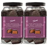 Taras Small Batch Chocolate Covered Sea Salt Soft Caramels, Dark, 31 Ounce X 2, 62 Ounce (Pack of 2)