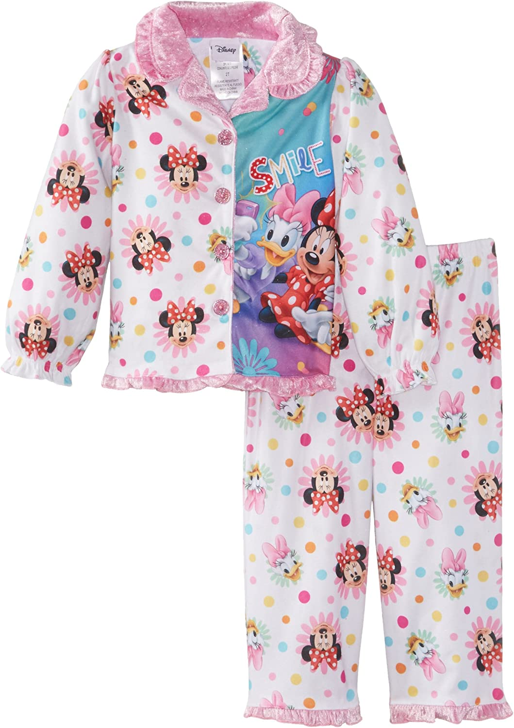 Disney/'s Minnie Mouse /& Daisy Duck Toddler Girl Tops /& Bottoms Pajama Set 2T