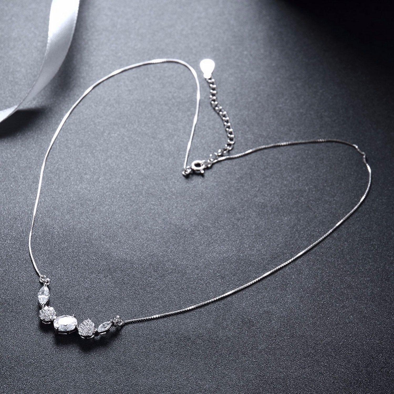 MMC Silver Pendants Sparkle Cubic Zircon Necklaces for Womens