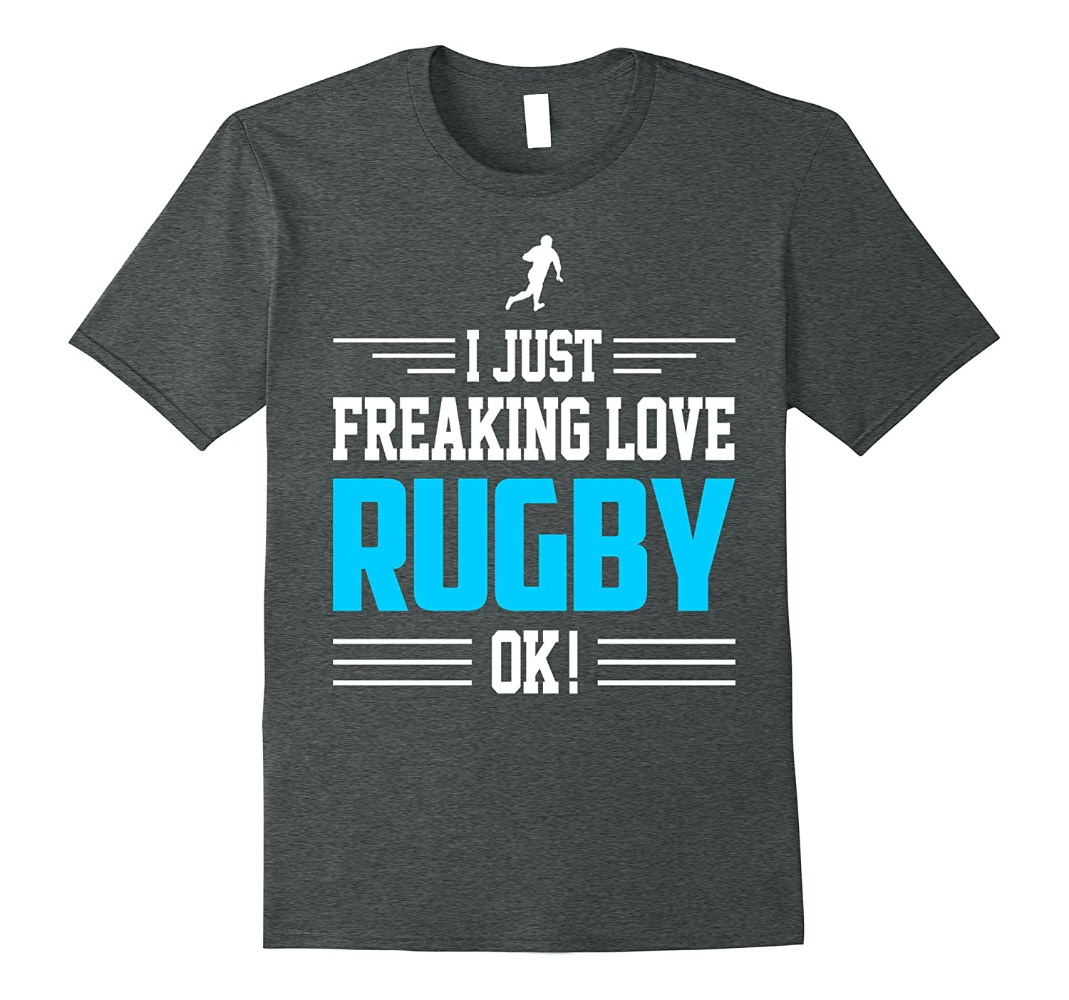 Rugby Shirt - I Just Freaking Love Rugby Ok Funny Gift-Rose