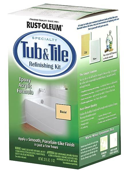 Stupendous Rust Oleum 7862519 Tub And Tile Refinishing 2 Part Kit Biscuit Download Free Architecture Designs Ferenbritishbridgeorg