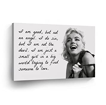 Amazoncom Marilyn Monroe Quotes Im Good But Not An Angel Canvas