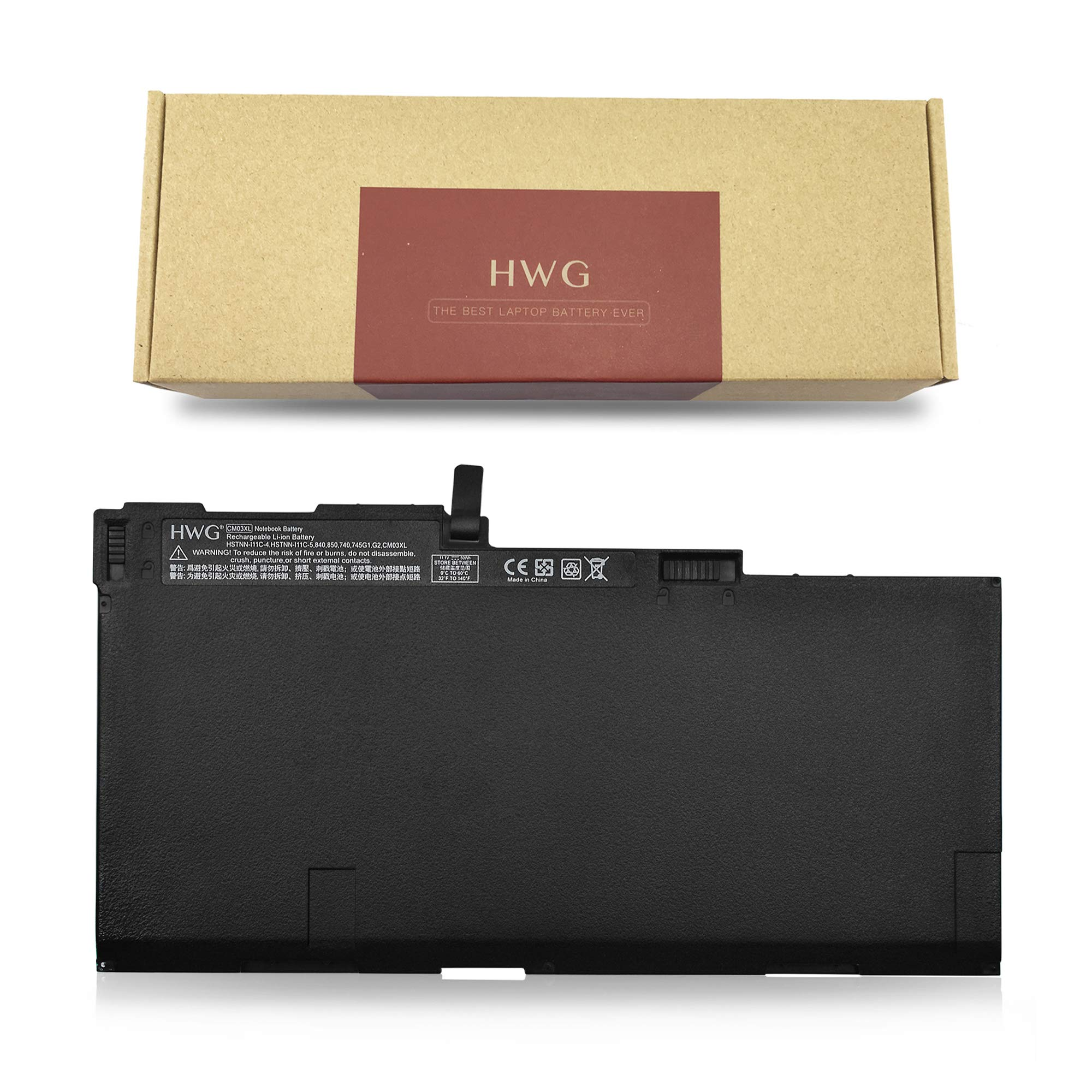 HWG CM03XL battery for HP EliteBook 840 845 850 740 745 750 G1 G2 Series 717376-001 CM03050XL CO06 CO06XL E7U24AA HSTNN-IB4R HSTNN-DB4Q HSTNN-LB4R HP ZBook 14 [11.1V / 50WH]