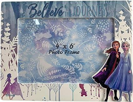 Multi-Colour Disney Frozen Wood 2 Photo Frames Home Decoration Unisex Adult Single Multicolour
