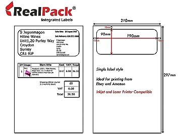 Realpack 250 X Amazon Ebay Integrierte Etiketten Und Versand Note