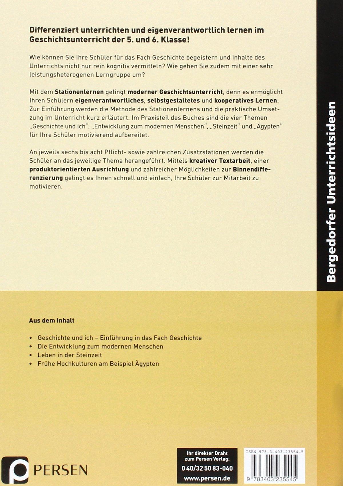 Stationenlernen Geschichte 5./6. Klasse - Band 1: Geschichte und ich ...