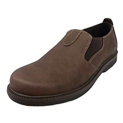 Earth Spirit Men's Jon Plain Toe Slip-On Twin Gore Shoes Brown | Loafers & Slip-Ons