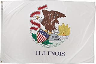 product image for Annin Flagmakers Model 141470 Illinois State Flag 4x6 ft. Nylon SolarGuard Nyl-Glo 100% Made in USA to Official State Design Specifications.