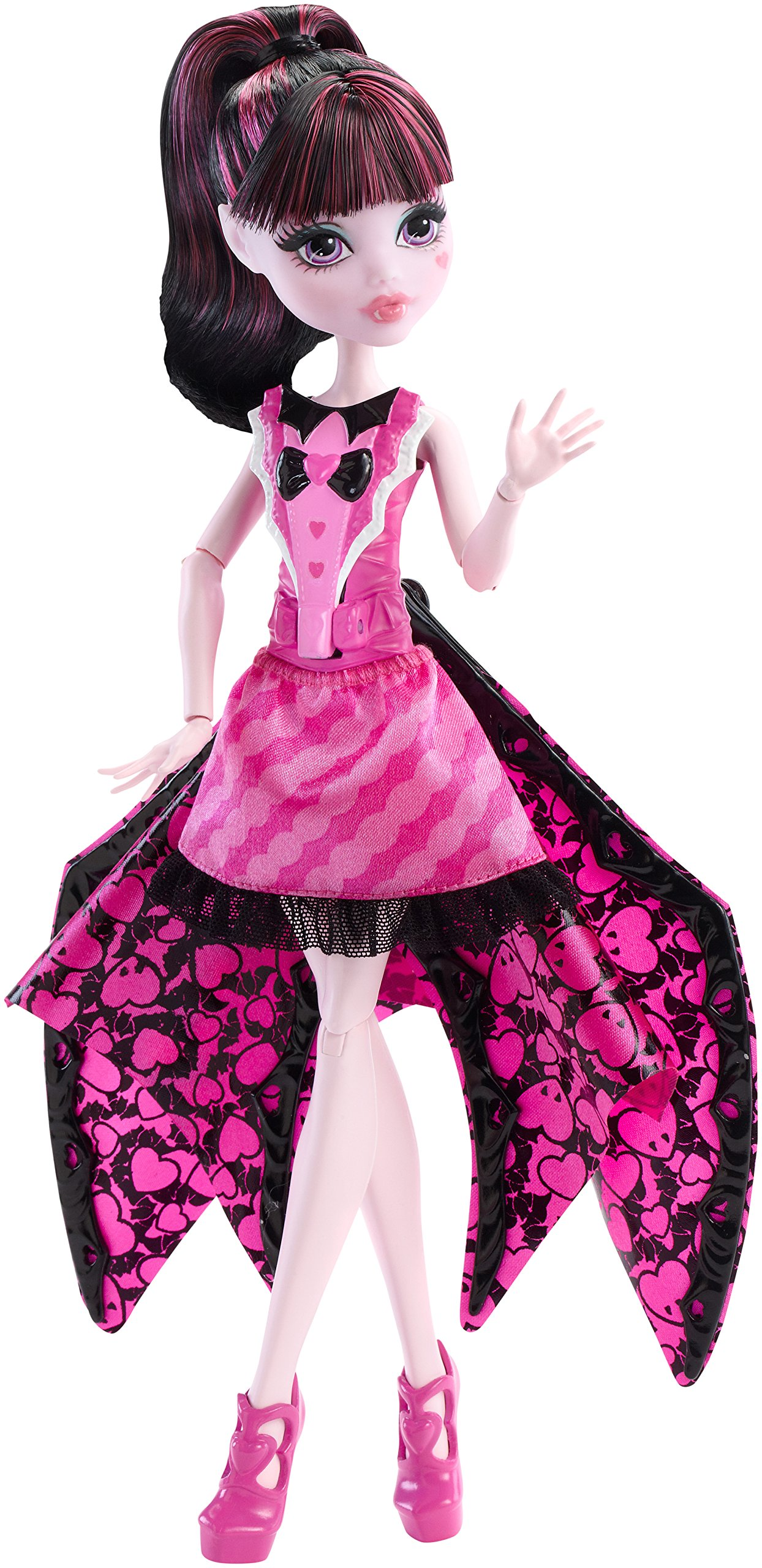 Monster High Ghoul-to-Bat Transformation Draculaura Doll - DNX65 ...