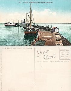 EUREKA CA SHIPPING ON HUMBOLDT BAY ANTIQUE POSTCARD