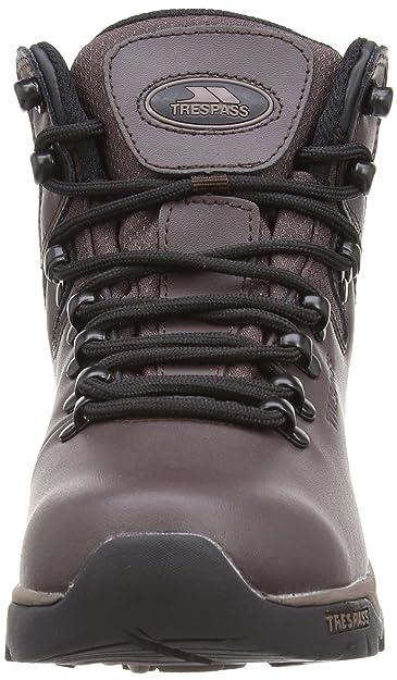 Trespass Hillden Boot - Botas de cuero infantil, Marrón, 34 EU
