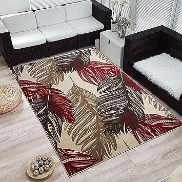 Moderner Design Kurzflor Teppich »Feather« Feder, Größe:120x170 Cm, Farbe: