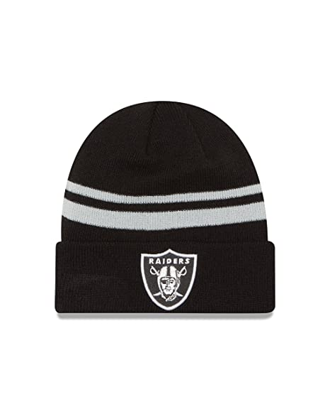 253fae7d7b0 Image Unavailable. Image not available for. Color  New Era NFL Oakland  Raiders Cuff Knit ...