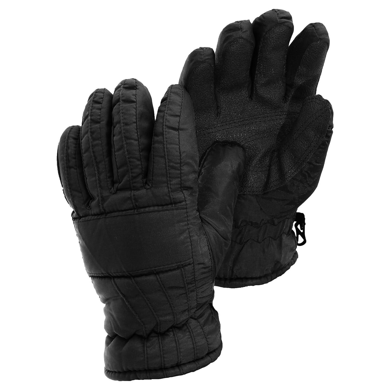 Damen Thermolite Thermo Ski-Handschuhe, gepolstert, wasserfest (Large) (Schwarz)