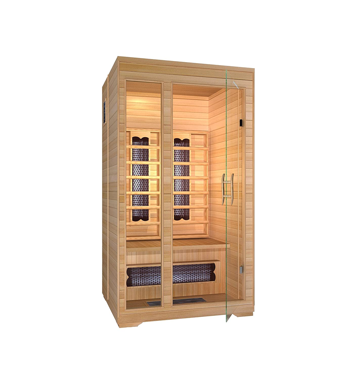amazon com 2 person infrared sauna with infloor radiant heat