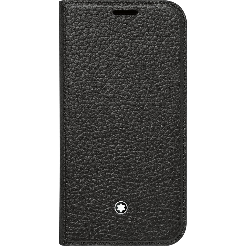 Genuine Montblanc 115835 Meisterstuck Soft Grain Flip Leather Cover Case for Samsung Galaxy S7 - Black