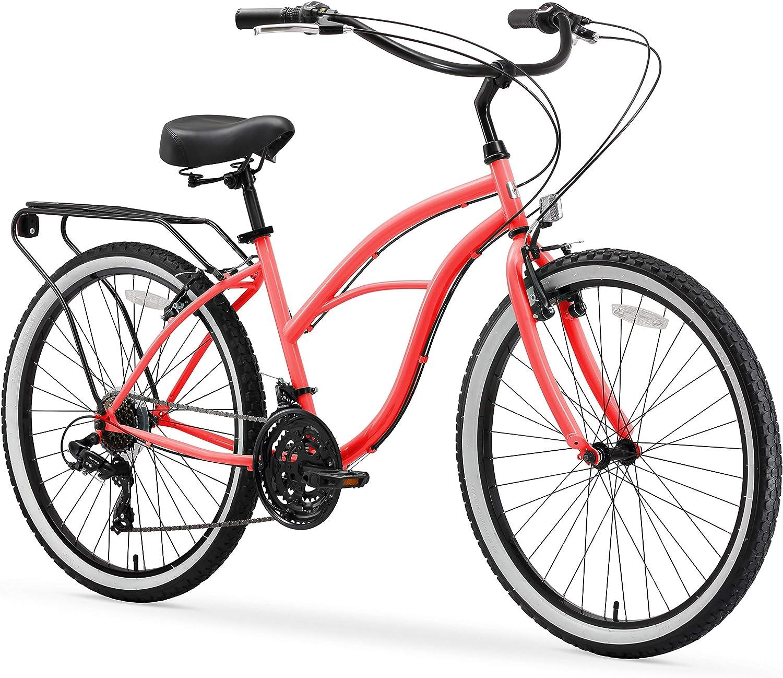 sixthreezero Around The Block Women's Single-Speed Beach Cruiser Bicycle