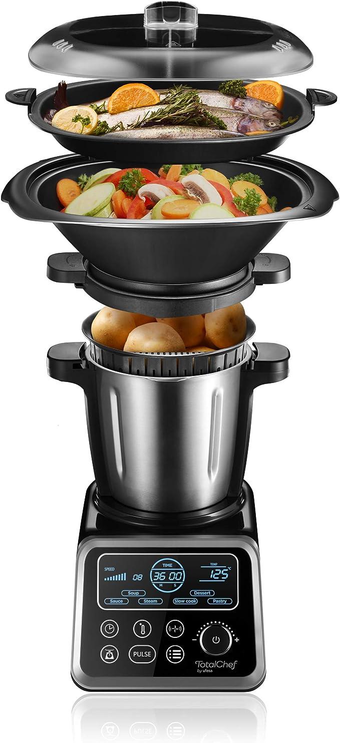 Ufesa RK5 Totalchef - Robot de Cocina con múltiples programas para cocinar, 1700W de potencia, pantalla LCD, jarra con 3,5L de capacidad, incluye recetario: Amazon.es: Hogar