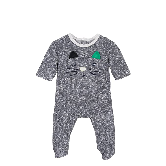 Catimini Pyjama EPONGE, Pelele para Dormir para Bebés, Azul (Nuit 49),