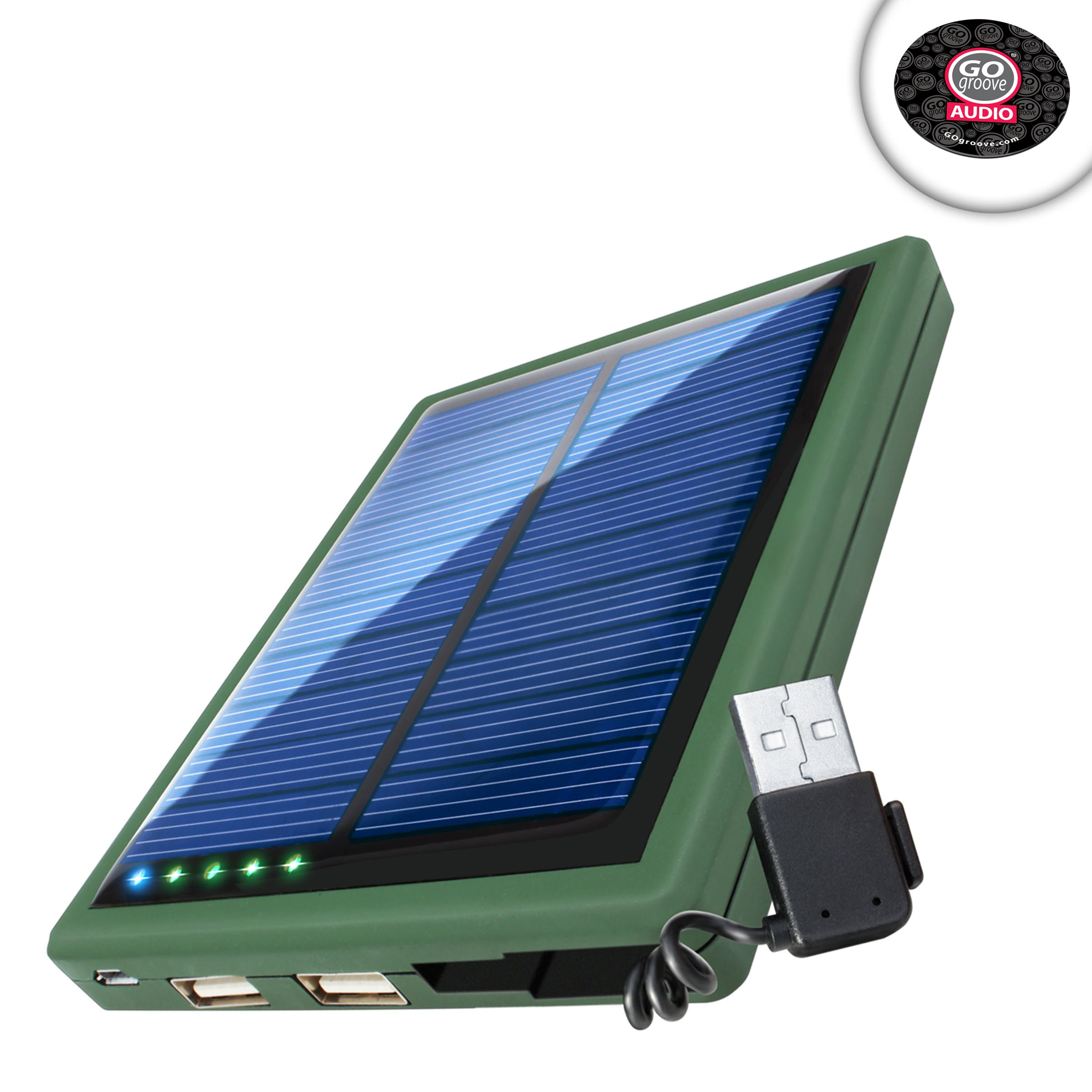 ReVIVE Restore SL 5000 Solar Charger Battery Pack w/Dual USB Charging Ports & Built-in Stowaway USB Cable Works with GoPro Hero5 Black, Hero5 Session, Hero Session & More Action Cameras!