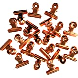 Sunny W Metal Bulldog Clips, 1.25 Inches, Pack of 20 (Rose Gold)