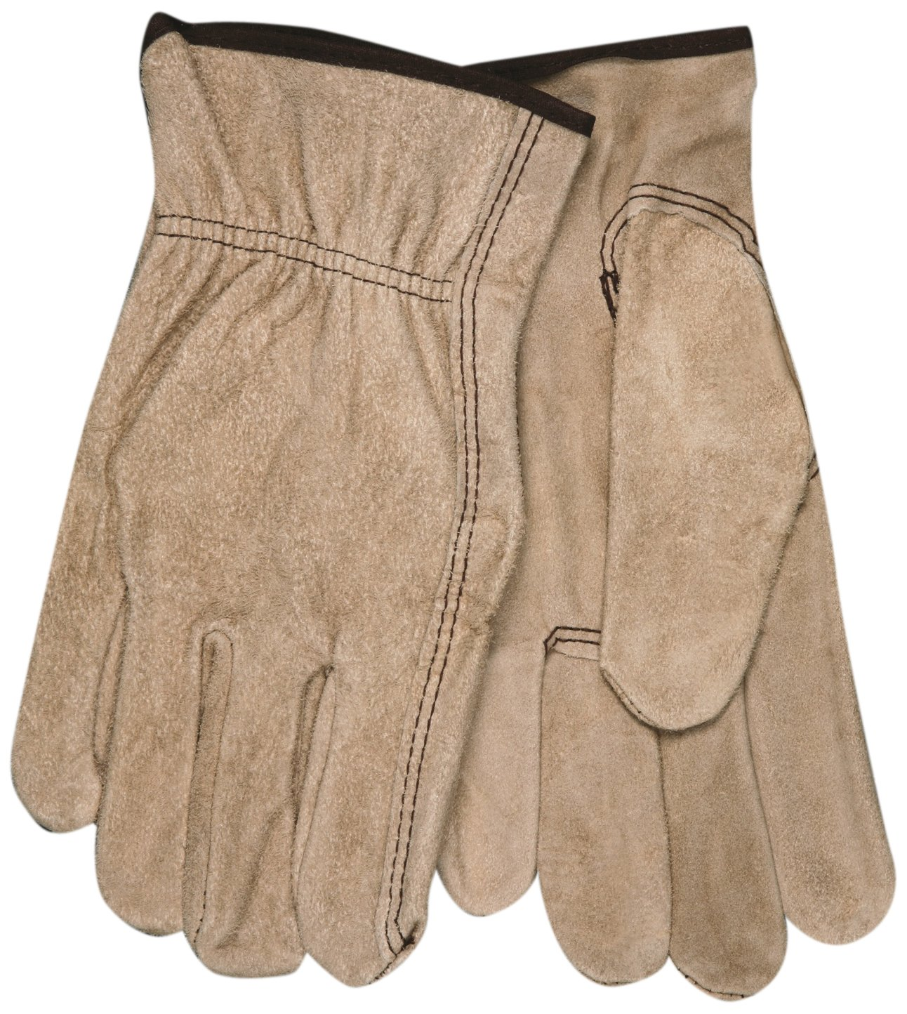 MCR Safety 3130S Regular Grade Cow Split Leather Driver Unlined Men's Gloves with Keystone Thumb, Brown, Small, 1-Pair by MCR Safety  B009A4DS8S