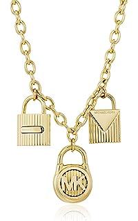 098479102da6 Amazon.com  Michael Kors Black Steel   Pavé Padlock Hinged Bracelet ...