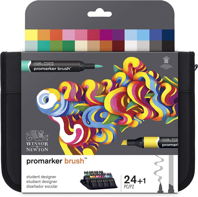 Winsor & Newton Brushmarker - Pack De 24 Rotuladores De Diseño ...