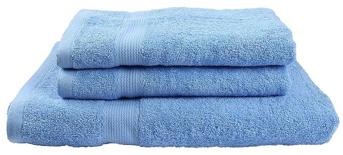 Winthome 3 Pack Toalla de Baño Grande para Cuarto de Baño,Juego de Toallas de Ducha (azul): Amazon.es: Hogar
