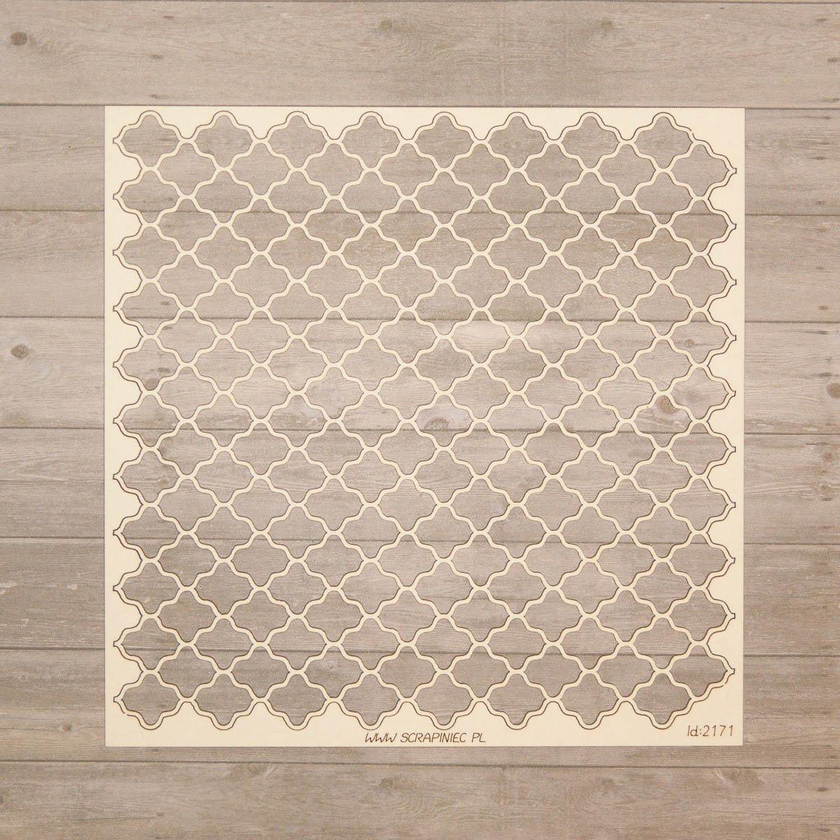 creARTive-corner Chipboard - Hintergrund Gitter orientalisch Scrapiniec