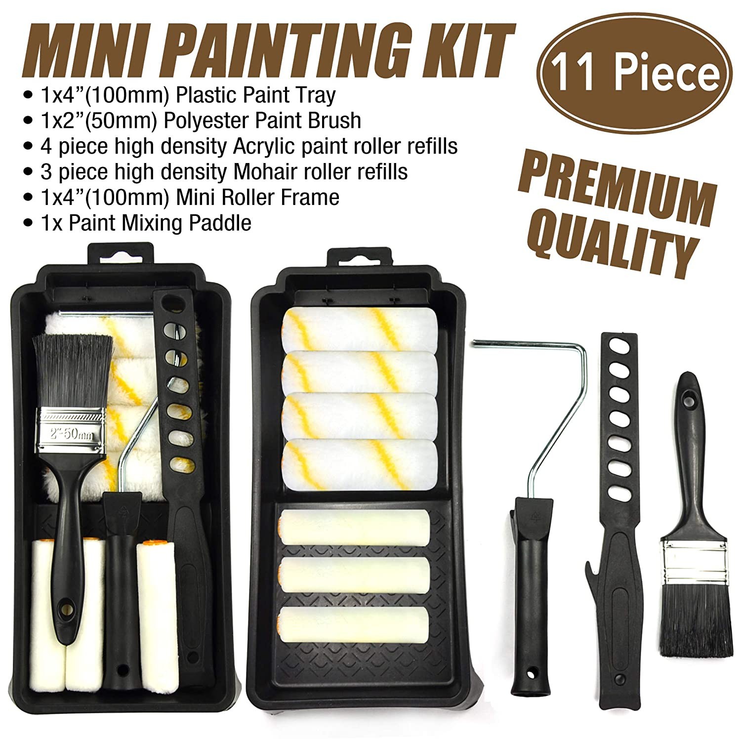 KingOrigin 11 Piece 4 Inch for Important Paints Painters Selected High Density Small Paint Roller Cover