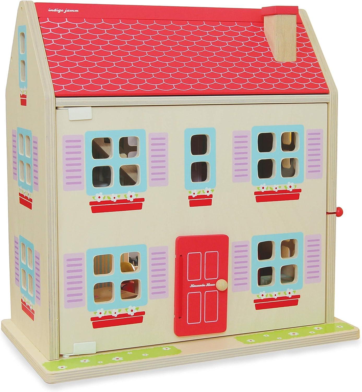 Amazon.es: Indigo Jamm- Hascombe House Casa de muñecas de Madera, Color Rosa (Prodotto USA CIJ2022): Juguetes y juegos