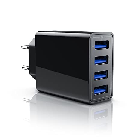 CSL-Computer Aplic - 5A Cargador de Red USB 4 Puertos | Fuente de alimentación | Bloque de alimentación USB | Adaptador de Corriente para iPhone X / ...