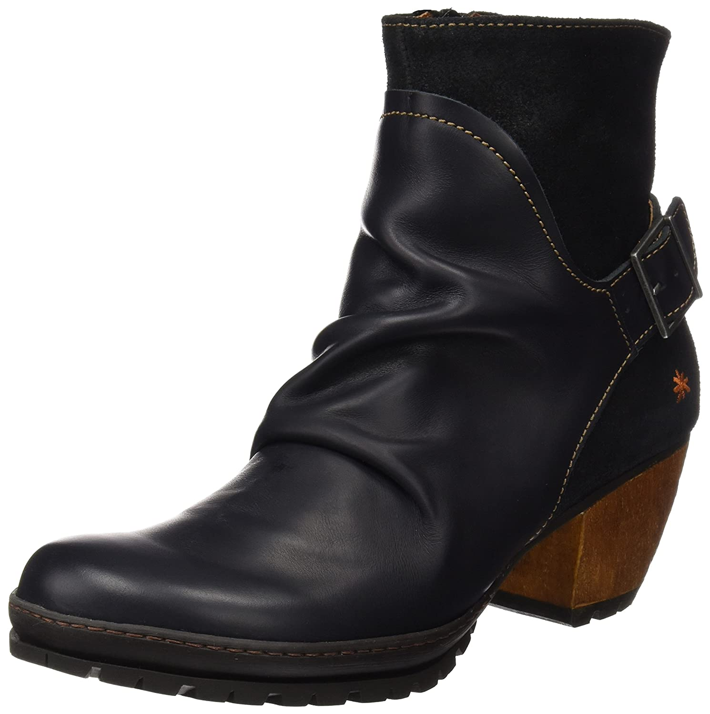 artOslo - Botas de Caña Baja con Forro Cálido y Botines para Mujer Negro (Heritagewax Black 516)