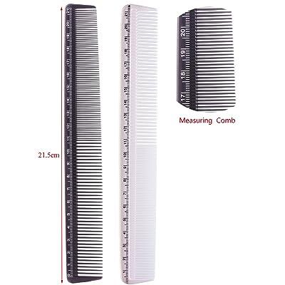 2 piezas para el pelo de corte para metal y con movilidad reducida, peines de-color negro y un estilo impecable para que incluye como medida de en color blanco y